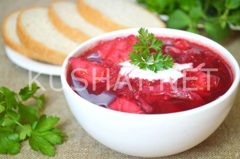 Fasulye ile Borsch, yemek tarifi