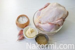 Kyckling under en tegelsten